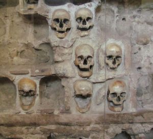 Historic installation made of skulls