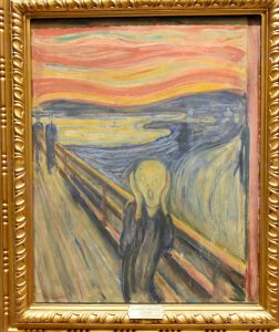 The Scream in Munch museum, Oslo
